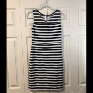 Xhilaration Dresses - B&W striped body-con dress